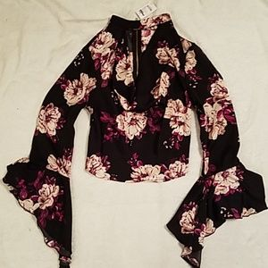NWT Charlotte Russe floral top